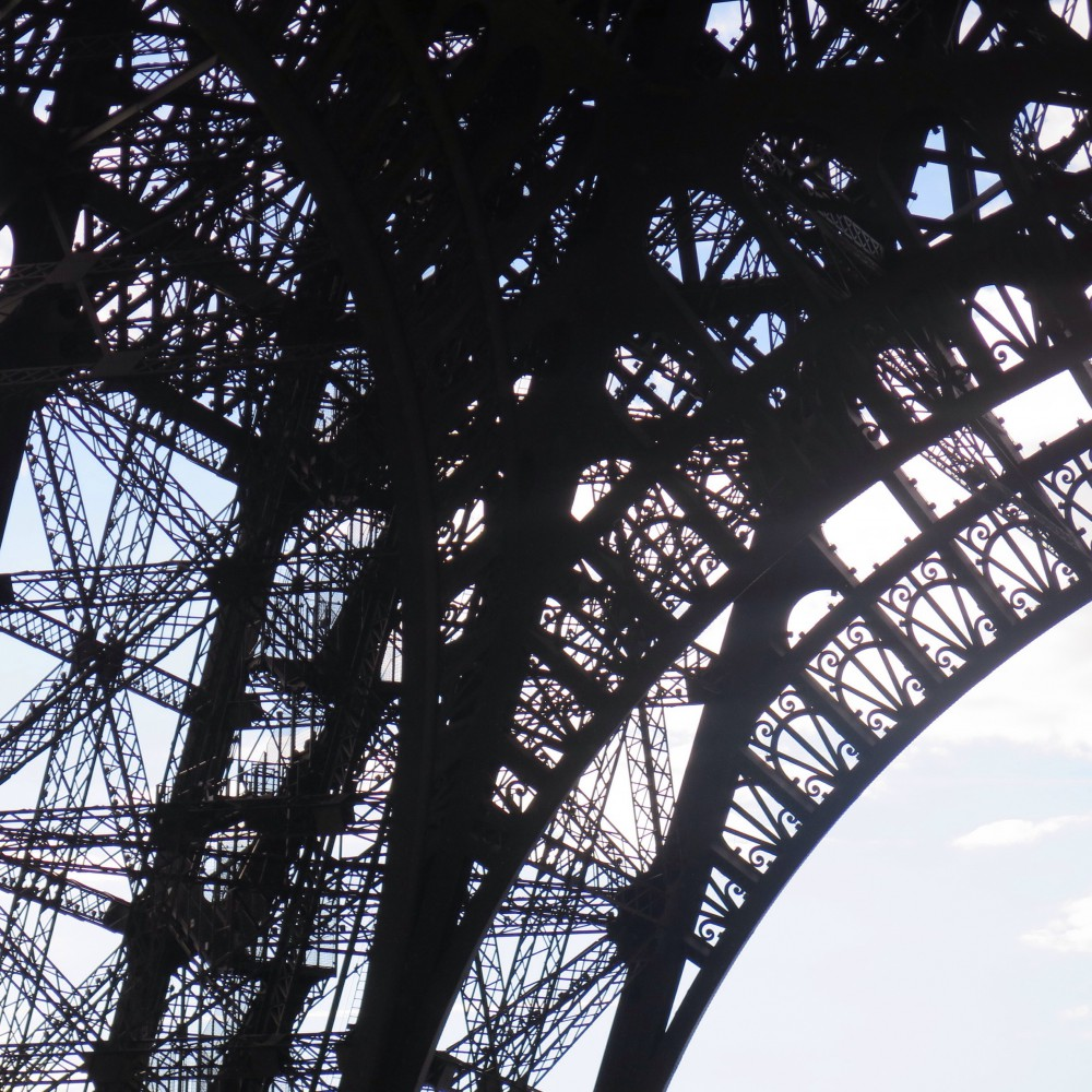 Close up Eiffel Tower