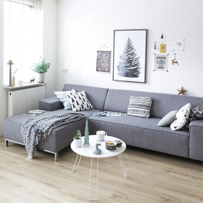 Christmas in our nordic living room