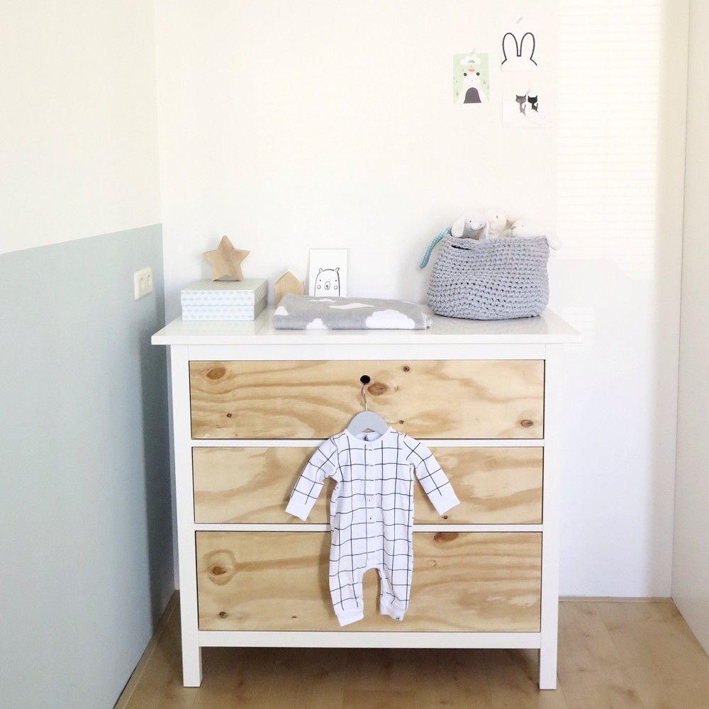 IKEA hack Hemnes for the nursery