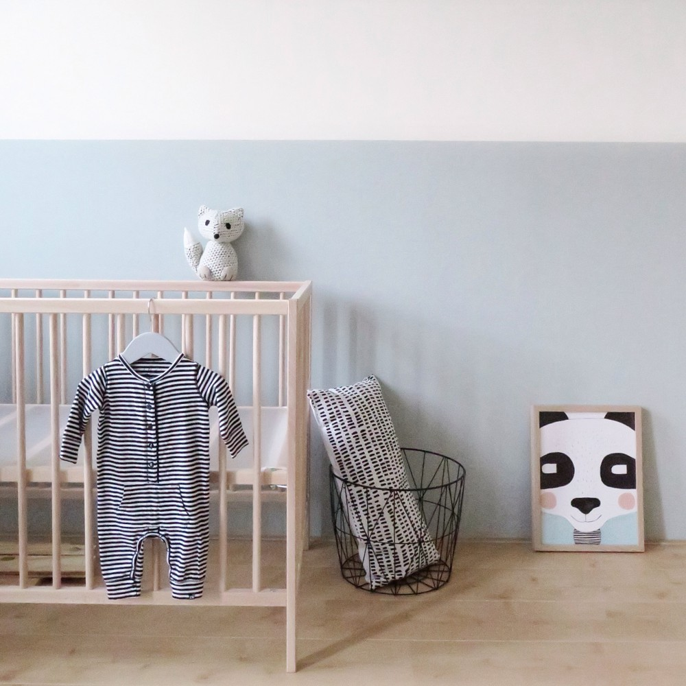 Wooden crib nursery