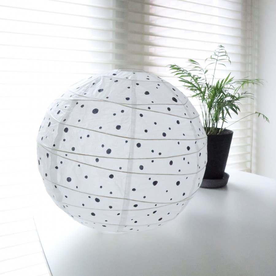 DIY dots lamp for the nursery 3