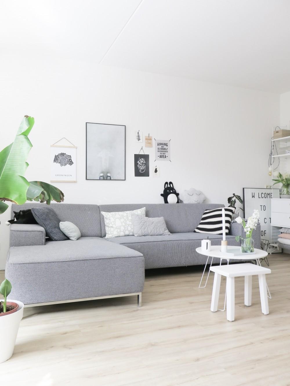Stadskaart Groningen in woonkamer