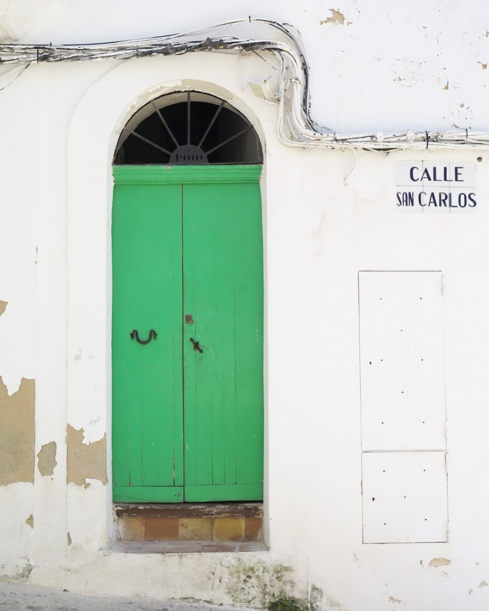 Mooie deur Ibiza stad